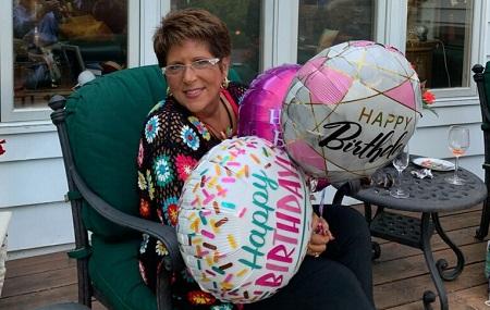 Teresa with Birthday balloons